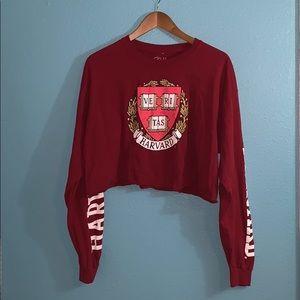 Cold Crush Harvard Long Sleeve Crop Top XL - D